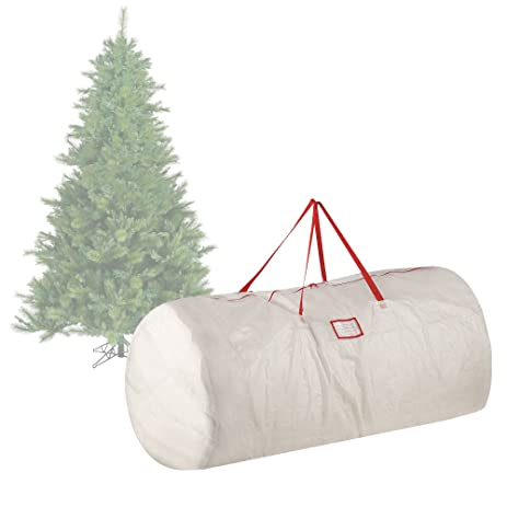 holiday christmas tree storage bag for 9 ft tree in white