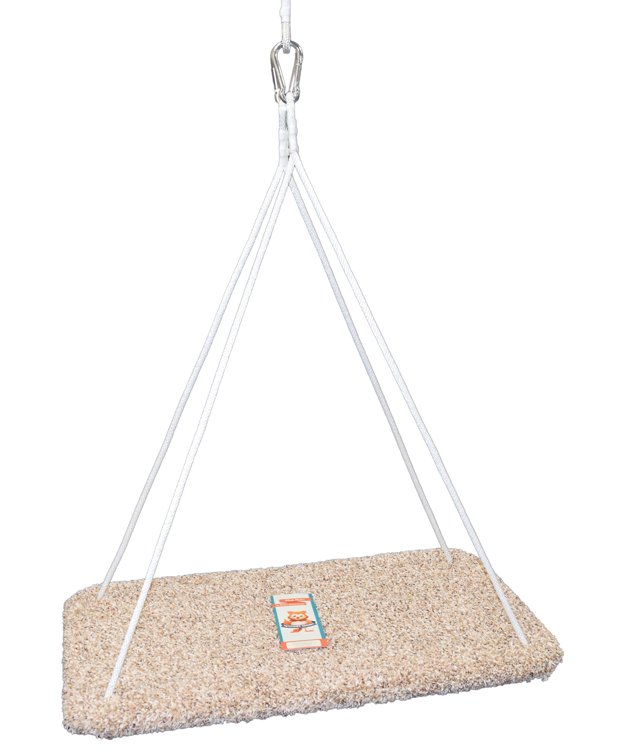 Platform Swing (Rectangle) - Special Need Therapy Use - Hand-Crafted from 100% Baltic Birch - Carpeted - 19'' X 37'' by Sensory Goods