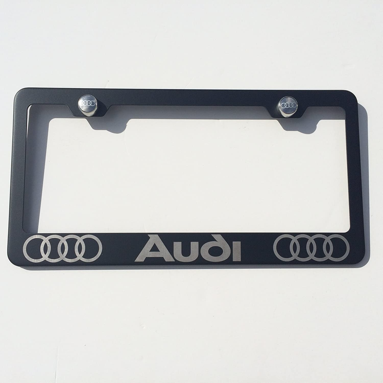Astounding Audi Black License Plate Frame
