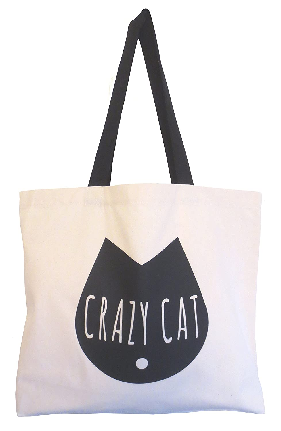 74c8a76701 Amazon.com: Cat Tote Bag, Crazy Cat Tote Bag, Weekend Tote, Cat Lovers Tote,  Canvas Shopper, Typography Cat Design, Cool Cat Bag, Shopping Bag: Handmade