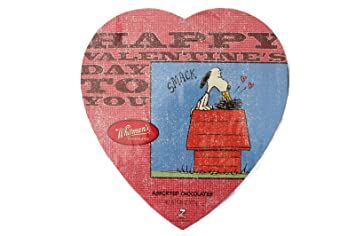 Whitmans Sampler Peanuts Snoopy Valentines Assorted Chocolates Heart