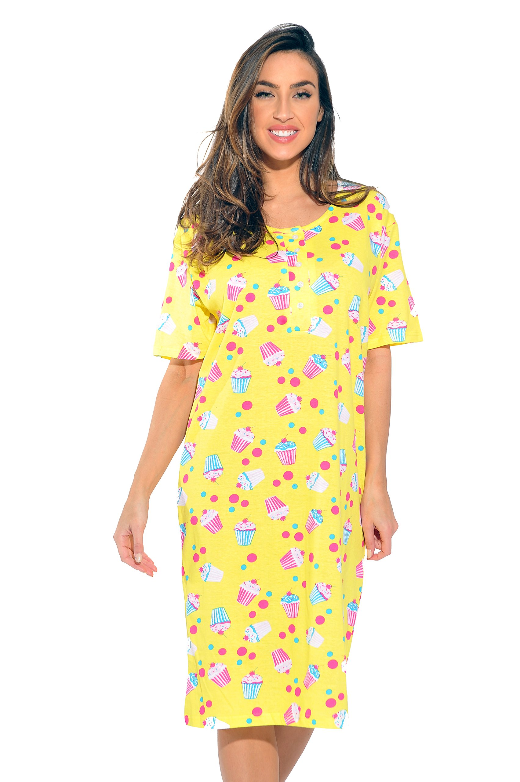 Just Love 4360-R-10071-S Short Sleeve Nightgown/Sleep Dress Women/Sleepwear