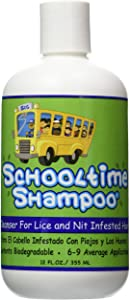 Schooltime Shampoo for Head Lice & Nit Removal - 12 OZ. Highly Effective After One 15 Minute Application