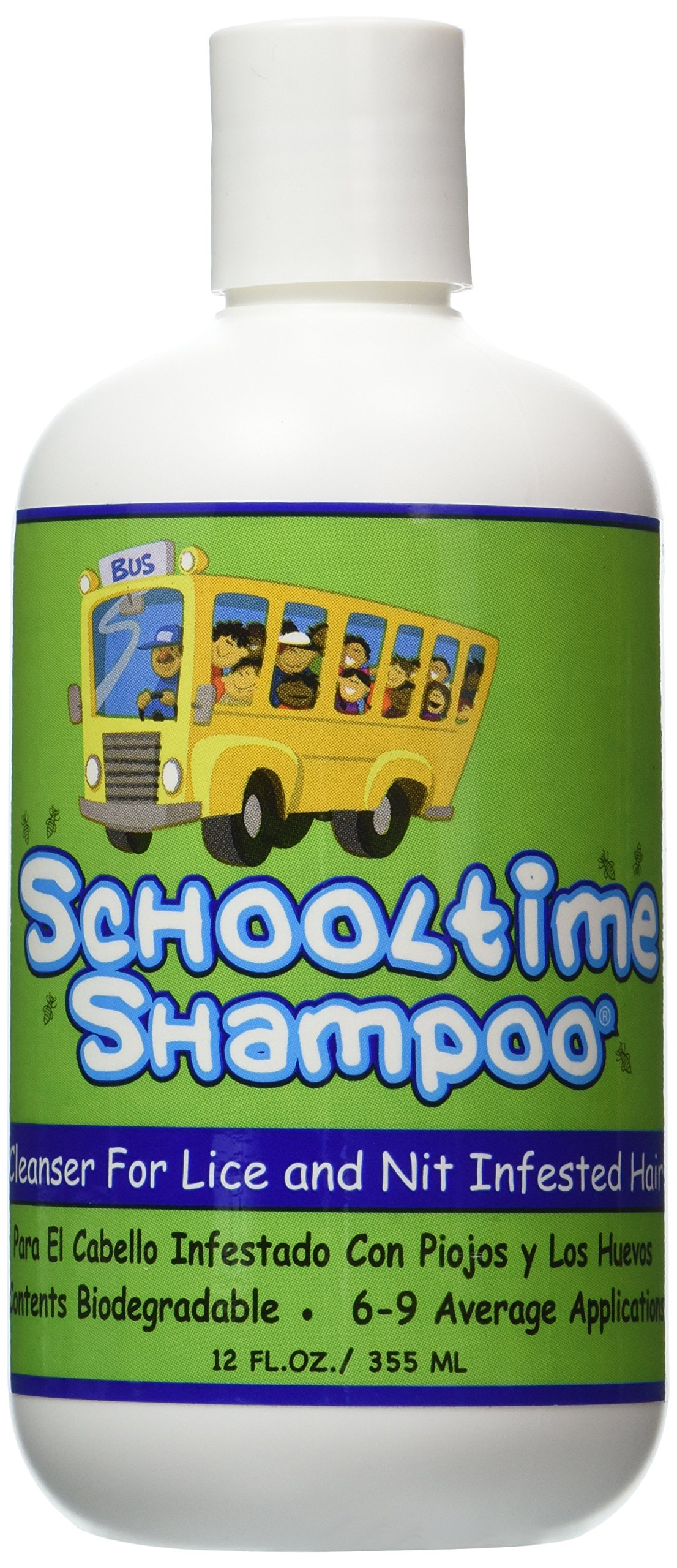 Schooltime Shampoo for Head Lice & Nit Removal - 12 OZ. Highly Effective After One 15 Minute Application by Schooltime