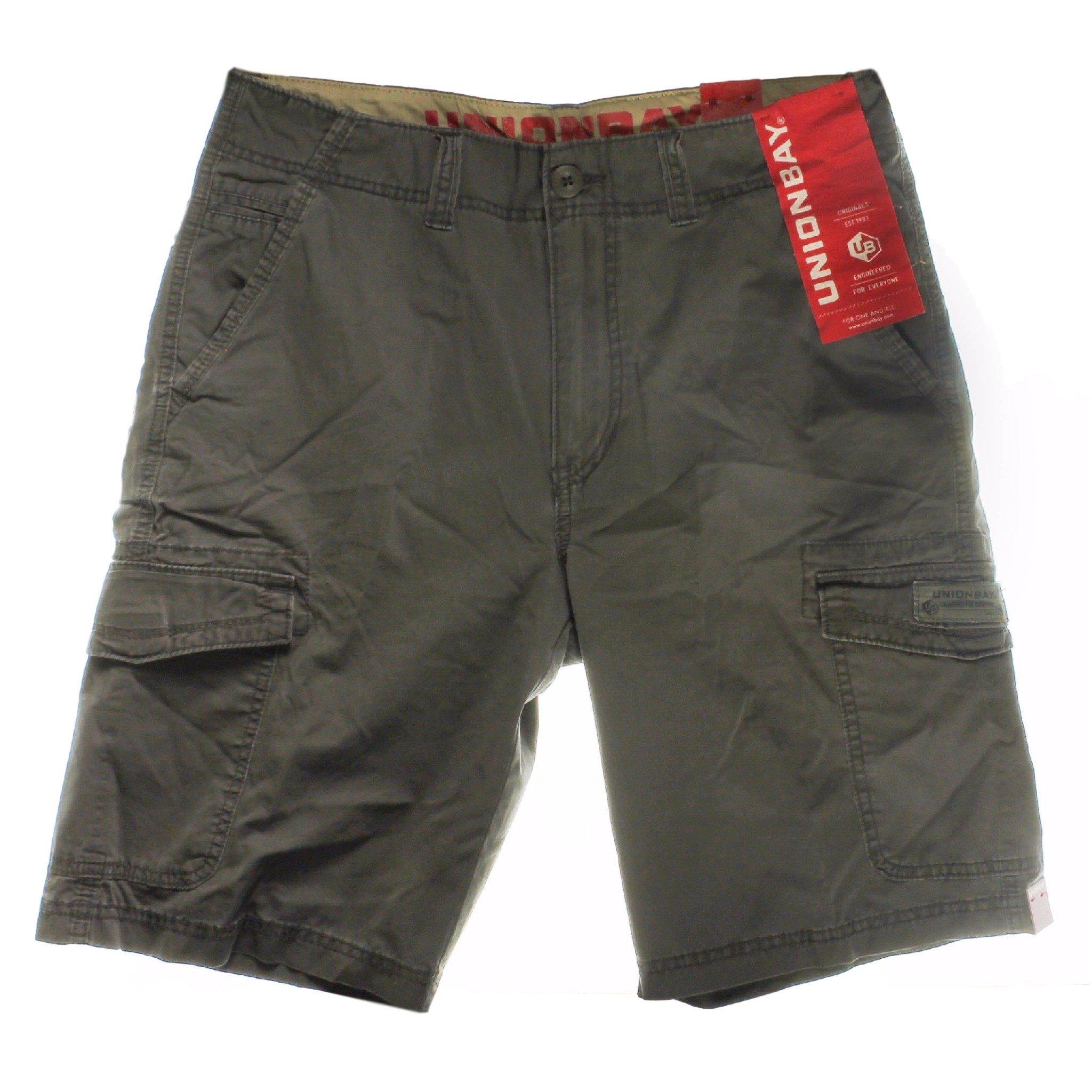 UNIONBAY Cargo Shorts for Men (32, Flint)