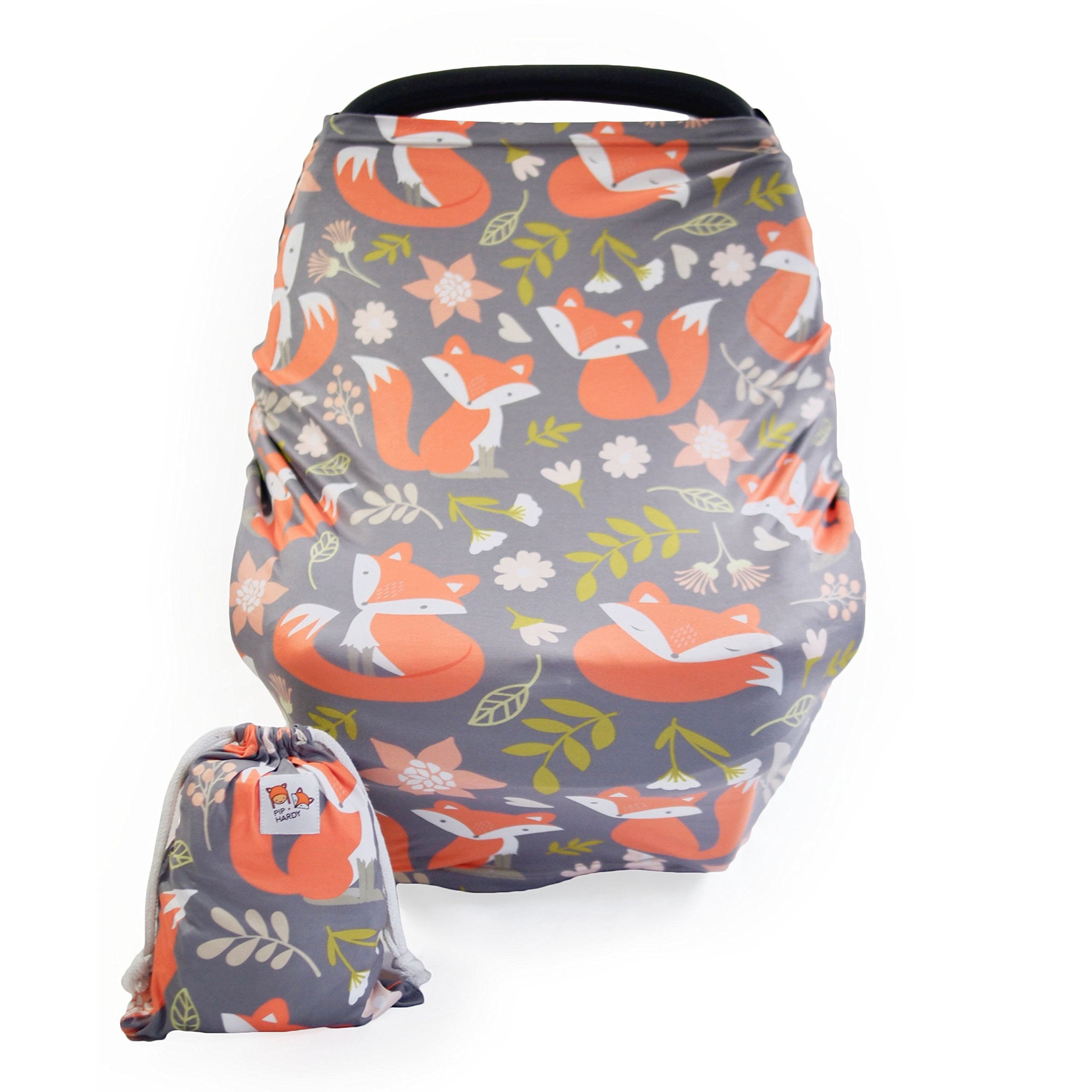 Baby Nursing & Breastfeeding Cover, Car Seat Canopy | Multi-use - Woodland Fox by PIP + HARDY