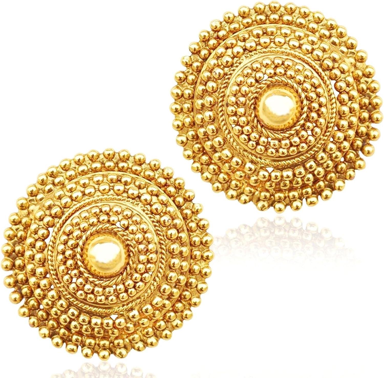 Pakistani Jewelry Gold Chaandbali Indian Jewelry Indian Earrings