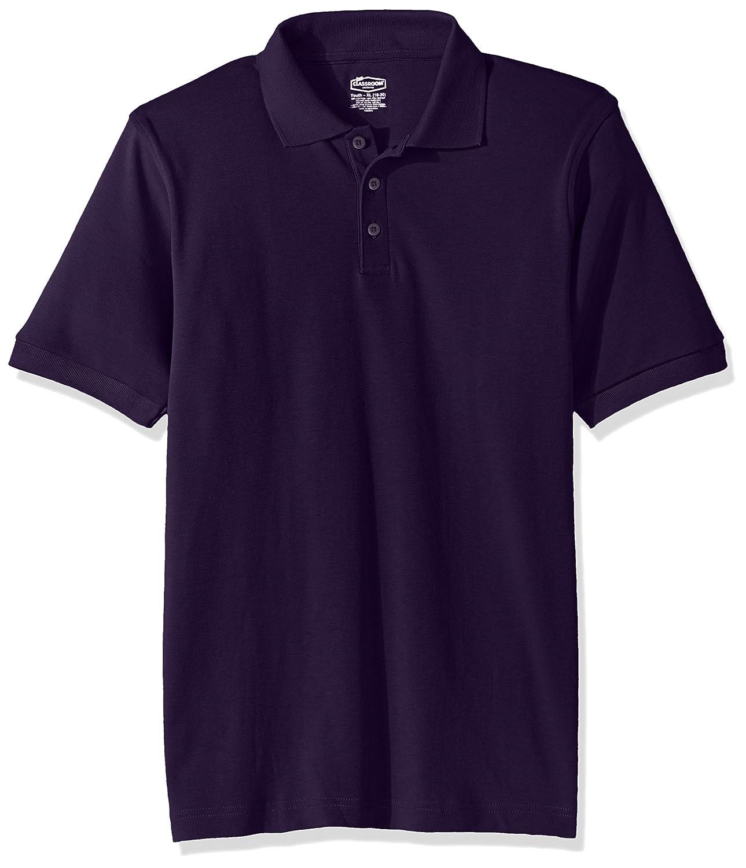 Classroom School Uniforms Kids Big Boys Uniform Short Sleeve Interlock Polo 58912