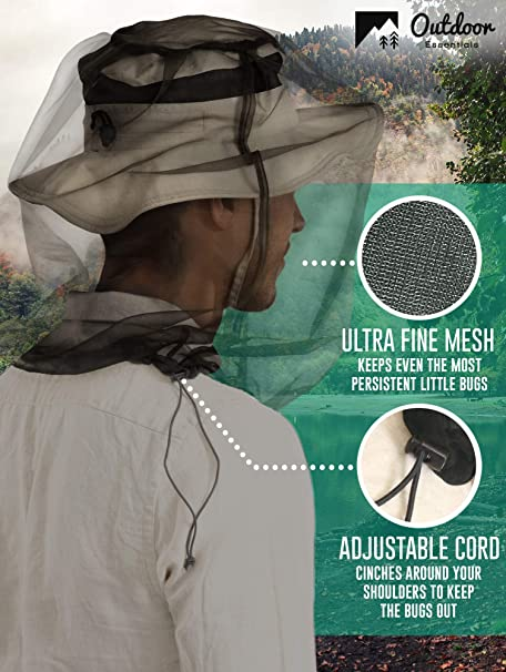 Mosquito Head Net Apiculteur face Protector Hat Bug Fly Moucheron écran tête me L4W2