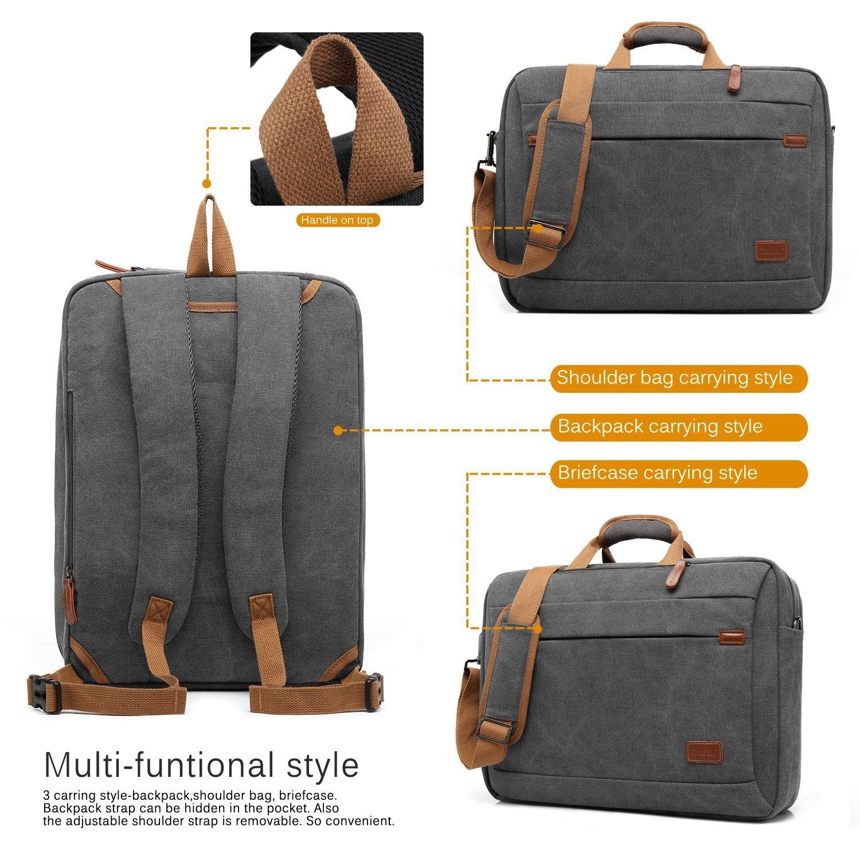 CoolBELL Bolso bandolera / mochila / maletín convertible de 15,6 pulgadas, tela Oxford, multiusos, ideal para ordenador portátil / MacBook / tablet, ...