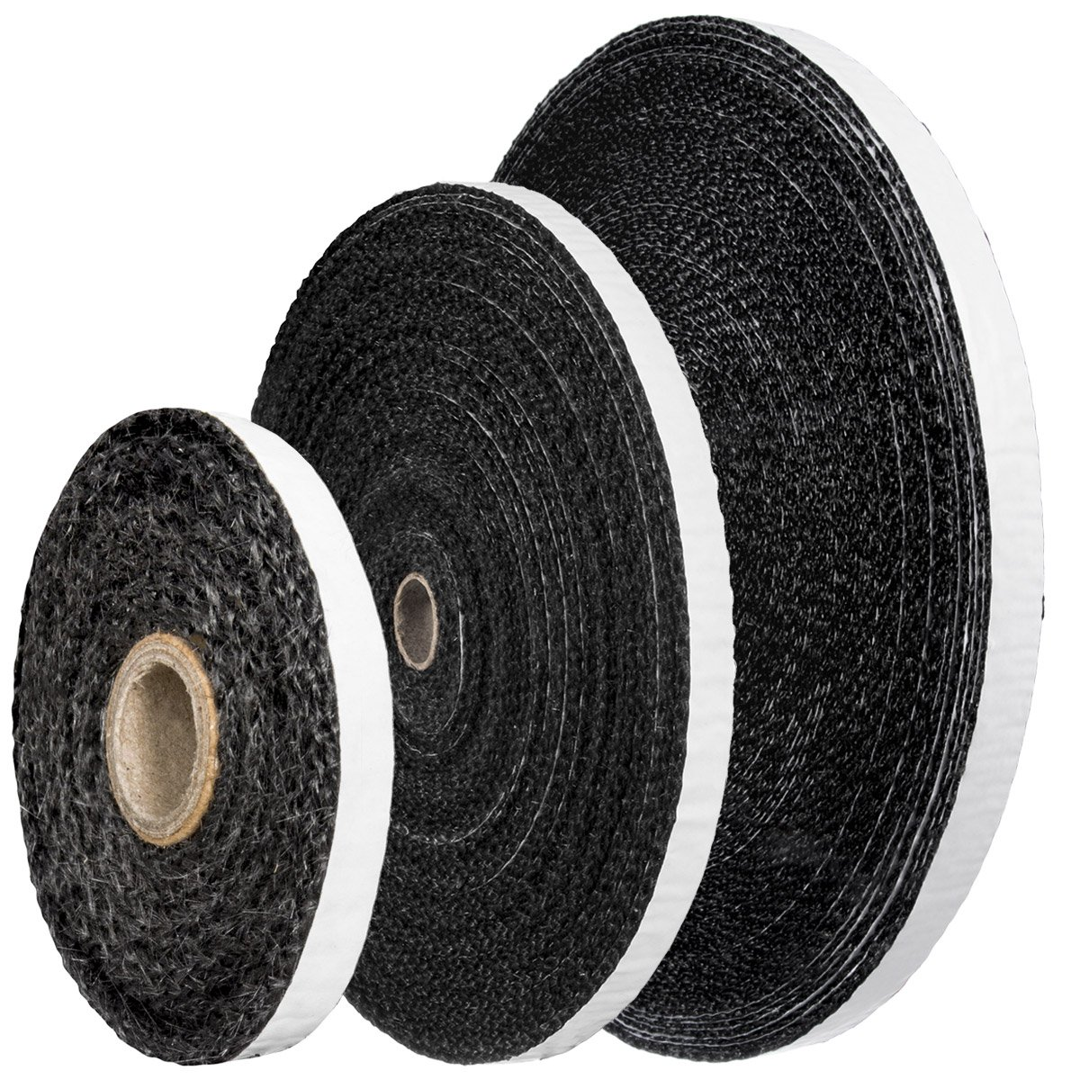 STEIGNER Self-Adhesive Fiberglass Tape SKD03 2 m 25x3 mm Black For Fireplaces Heat Resistant To Temperature up to 550°C or 1022°F