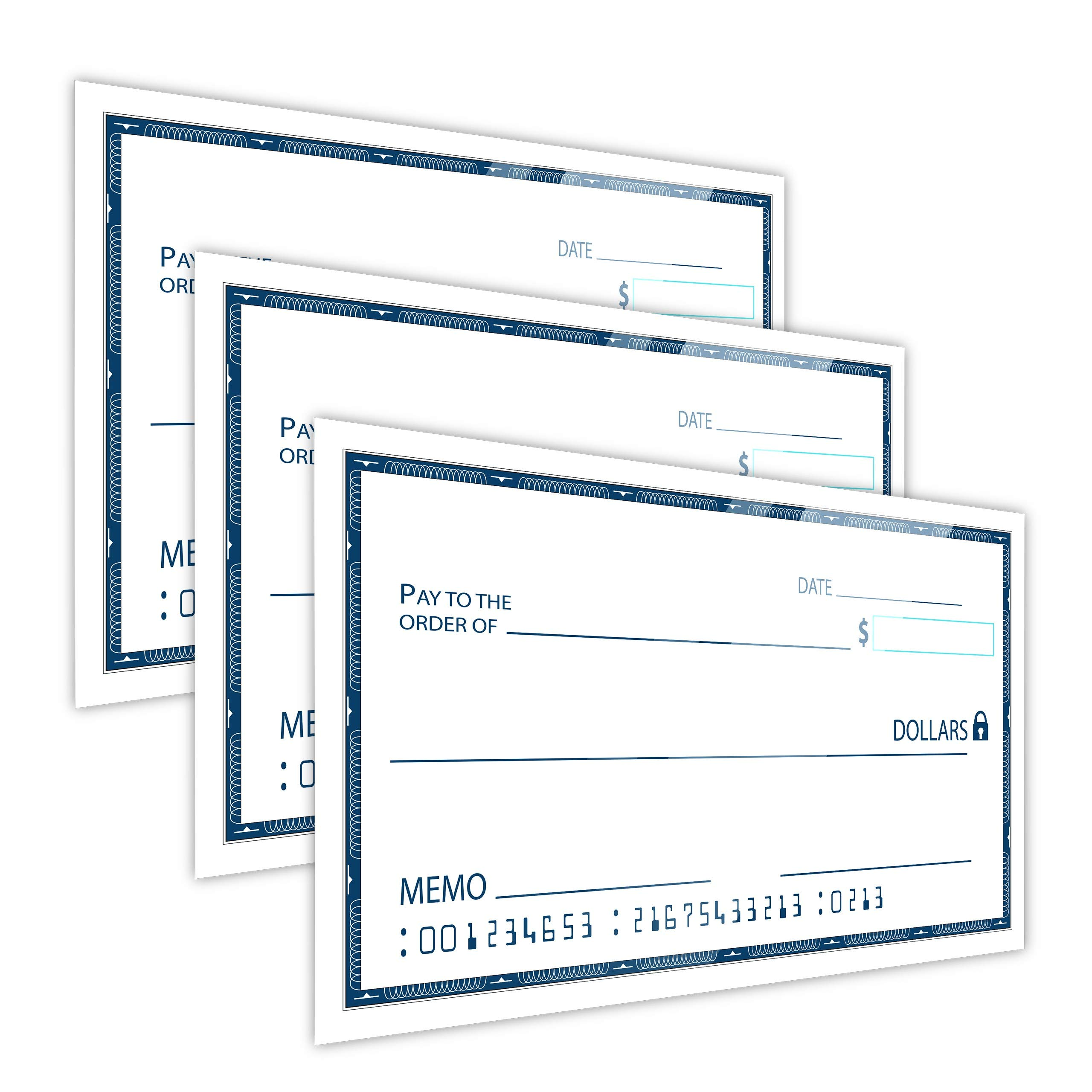 [Dry Erase] 16'' x 24'' Oversize Giant Check - Large Fake Checks - Reusable Big Blank Presentation Check for Charity Donation, Lottery, Raffle, Novelty, Fundraiser, Endowment, Gag Gift (White) (3) by JJ CARE