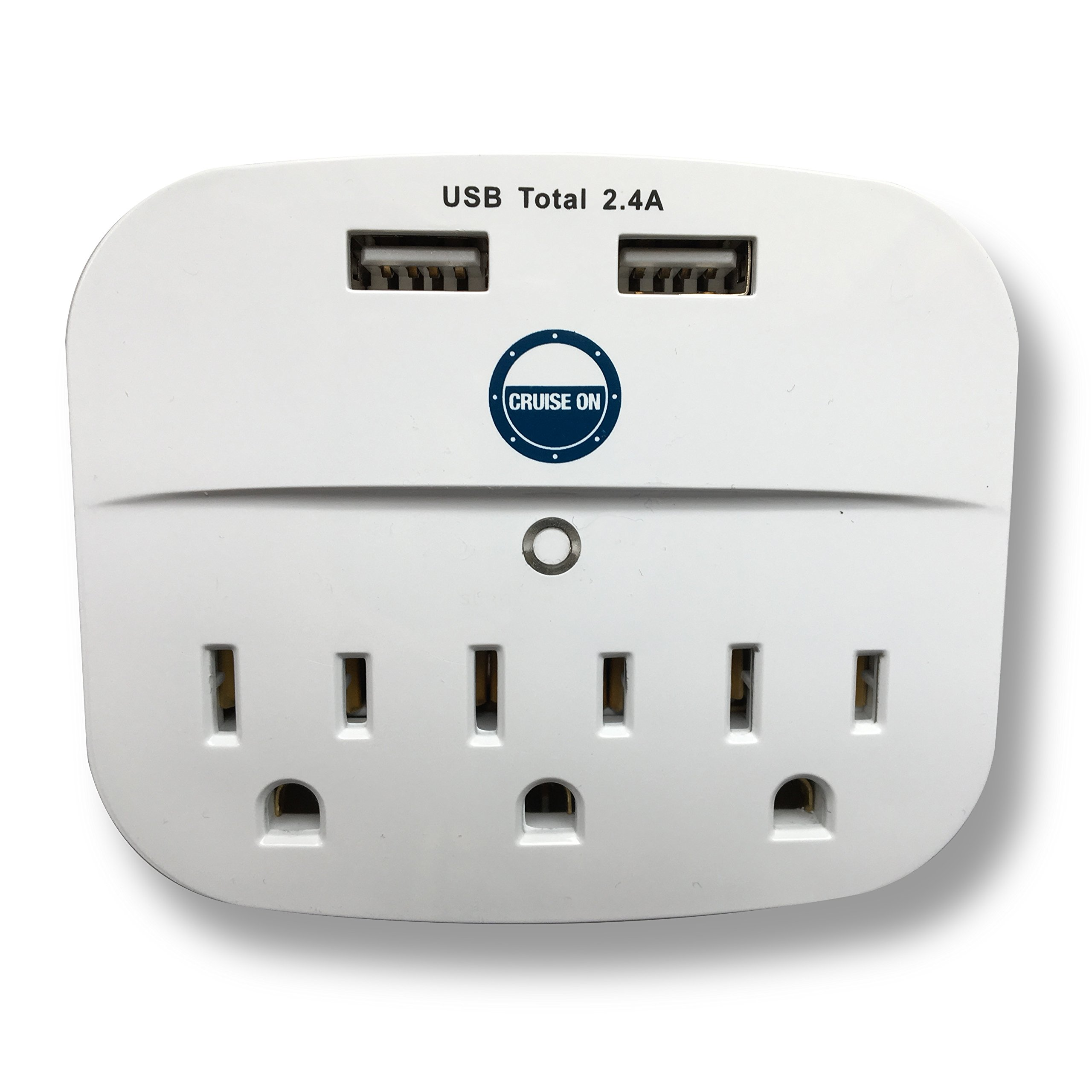 Cruise Power Strip with USB Outlets - Non Surge Protection - Cruise Ship Approved by Cruise On