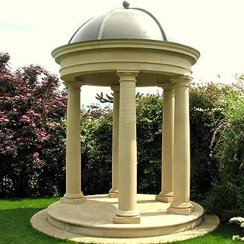 garden columns. Large Garden Temple - Stone Columns \u0026 Lead Dome Roof