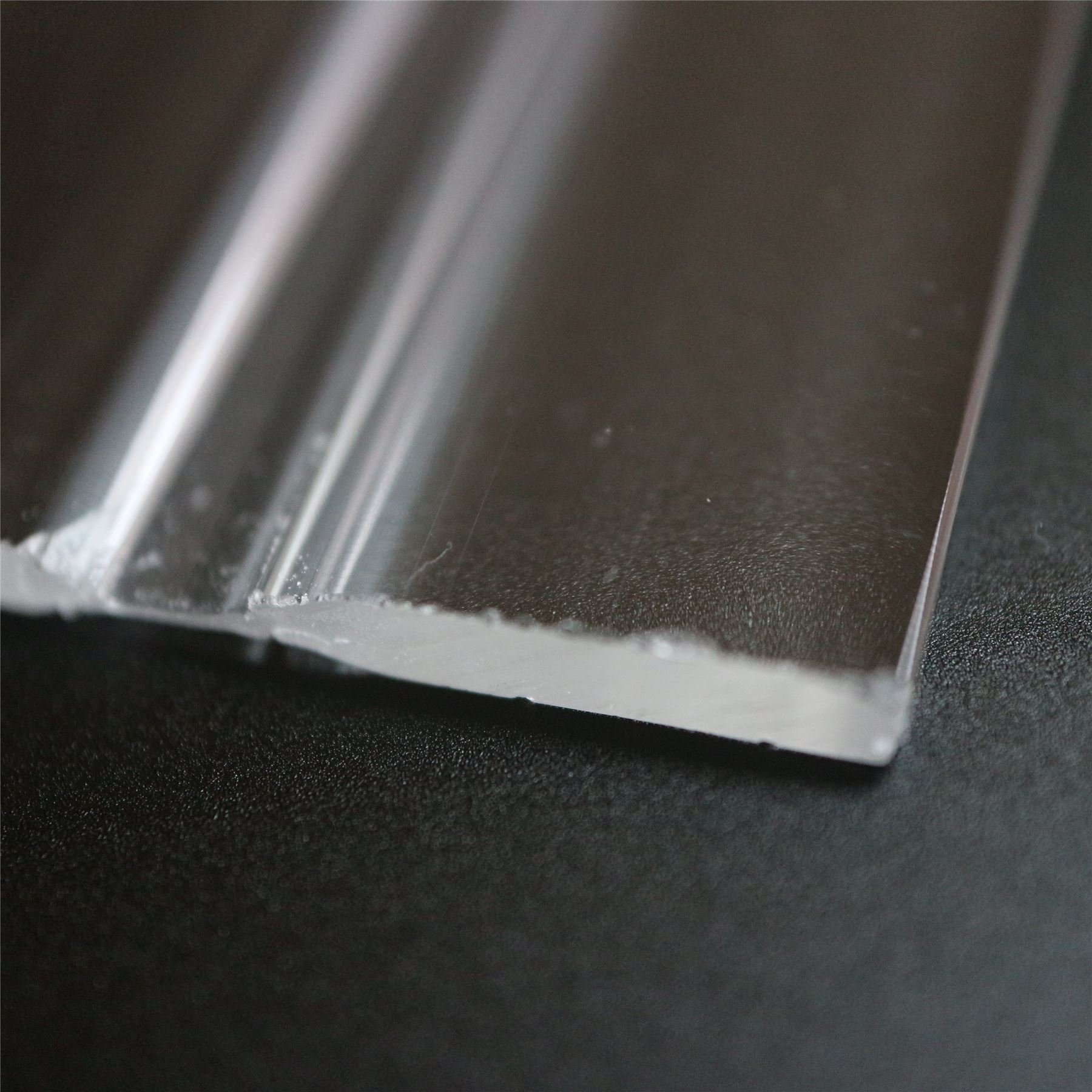 4 x 100mm low profile flex hinges, flexible living hinges, plexiglass, Transparent, Continuous Acrylic Piano Hinges