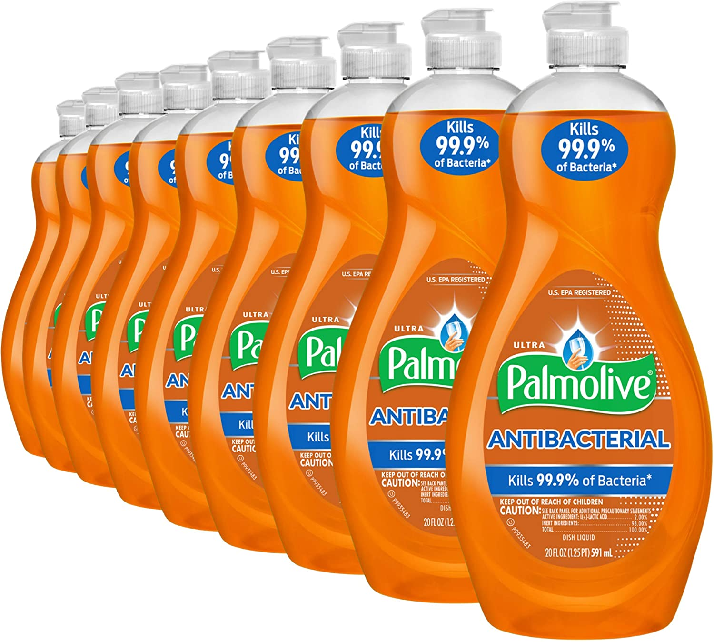 Palmolive Ultra Liquid Dish Soap, Antibacterial, 20 Fl Oz, Pack of 9