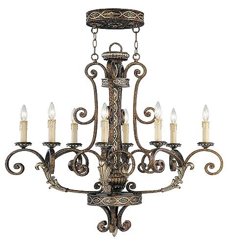 Amazon.com: Palacial acentos de bronce con dorado 8 luz ...