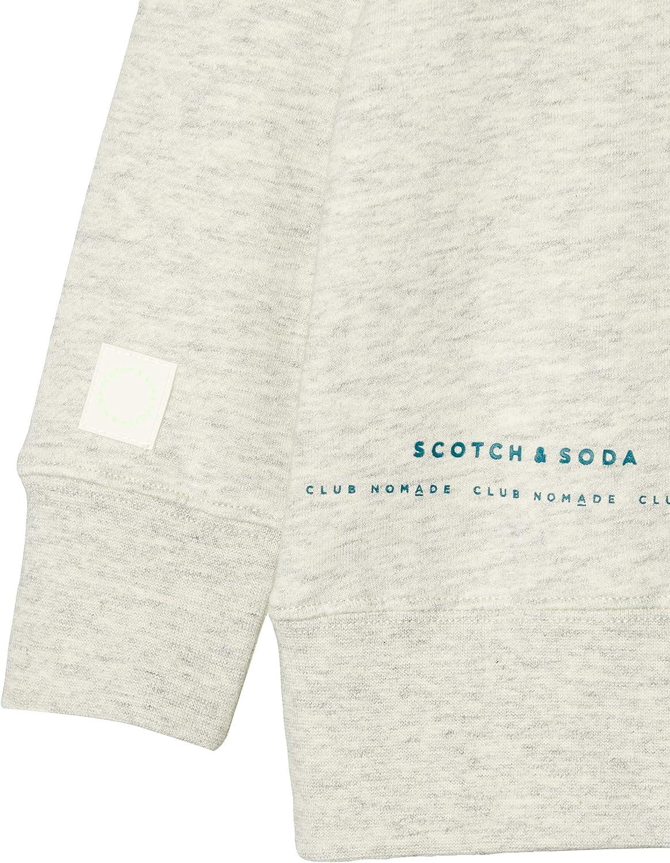Scotch /& Soda Club Nomade Basic Crew with Artworks Felpa Bambino