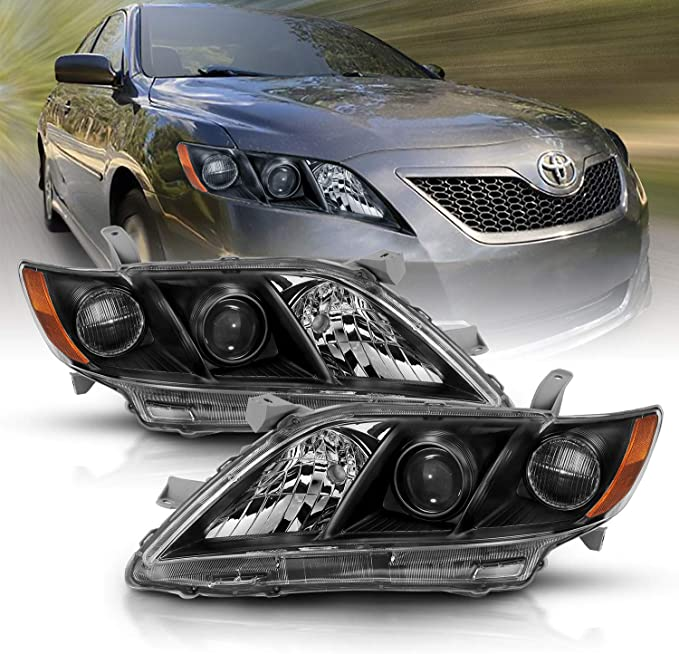 PROJECTOR FOR 2007 2008 2009 Toyota Camry Direct Replacement Headlight Set
