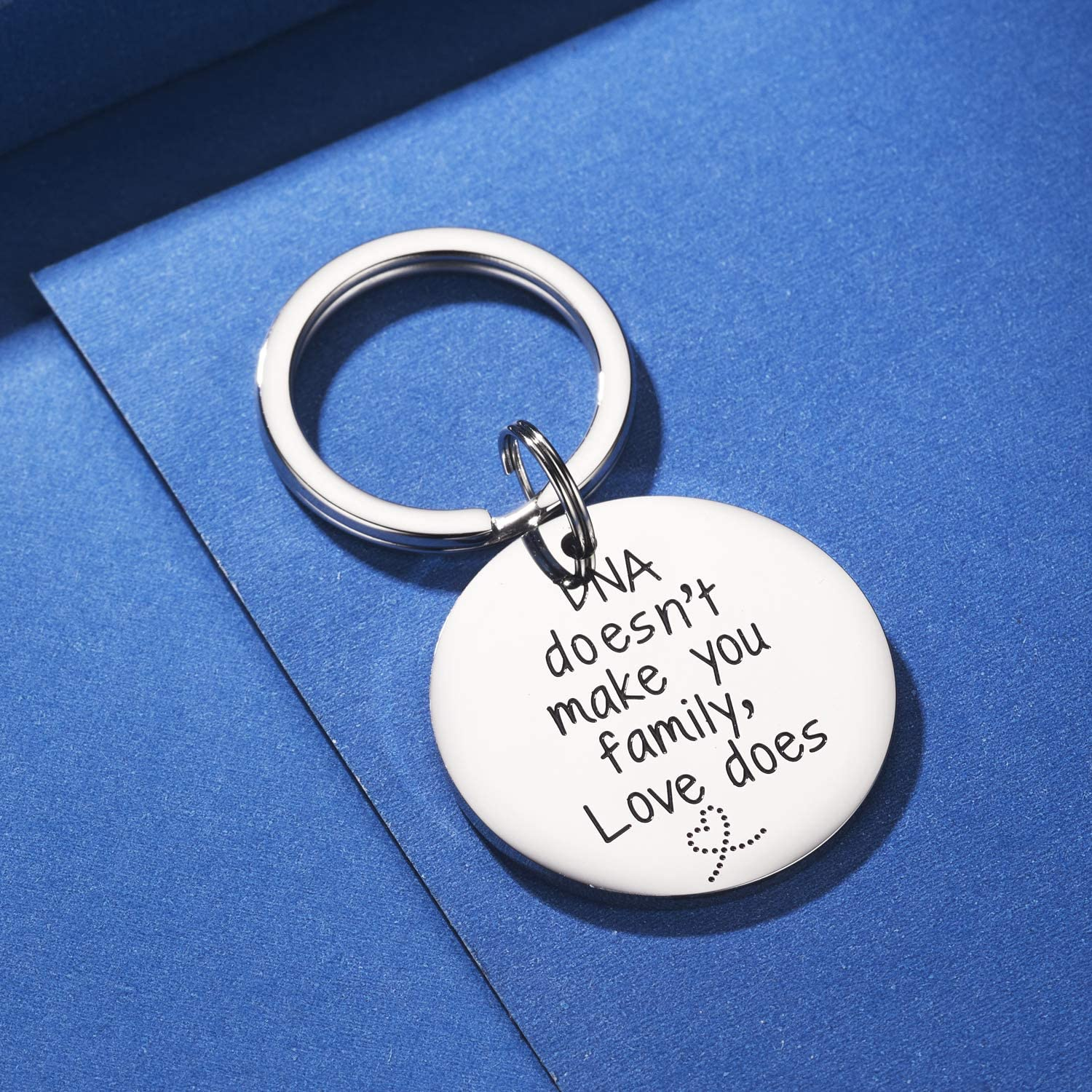 Step Mom Gift Step Dad Gift Thank You for Loving Me as Your Own Step Mother Keychain Adoption Keychain,Step Dad Keychain CJ/&M Step Parent Keychain
