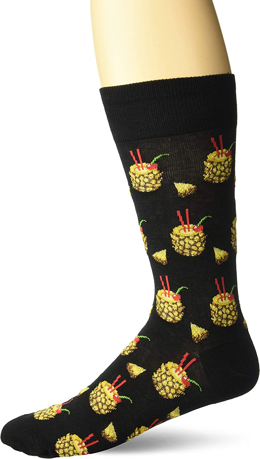 Hot Sox Men's Food and Booze Novelty Casual Crew