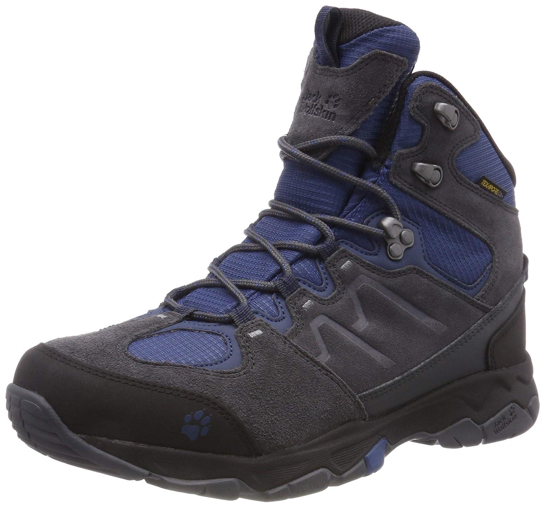 Jack Wolfskin MTN Attack 6 Texapore Mid M, Chaussures de Randonnée Hautes Homme gris (Ocean Wave 1588) 40.5 EU