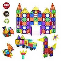 Children Hub 100 Stücke Magnetische Bausteine Eingestellt: Pädagogische Spielwaren Für Kinder Ab 3 Jahren