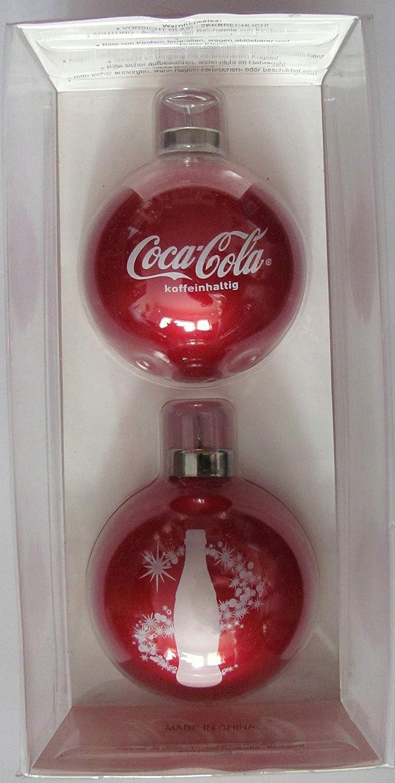 Motiv 3 Weihnachtskugeln COCA Cola 2er Pack
