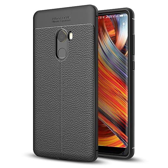 size 40 c8354 6b6b6 Amazon.com: Xiaomi Mi Mix 2 Case, Ranyi [Full Body Leather Cover ...