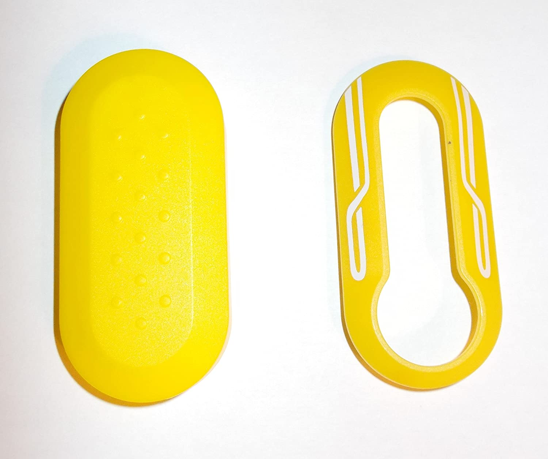 Carcasa CLE Fiat 500 amarillo - carcasa llave FIAT 500 ...
