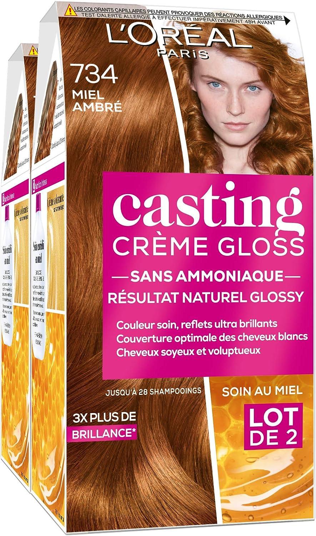 Lote de 2 tintes para cabello Casting Crème Gloss, coloración ...