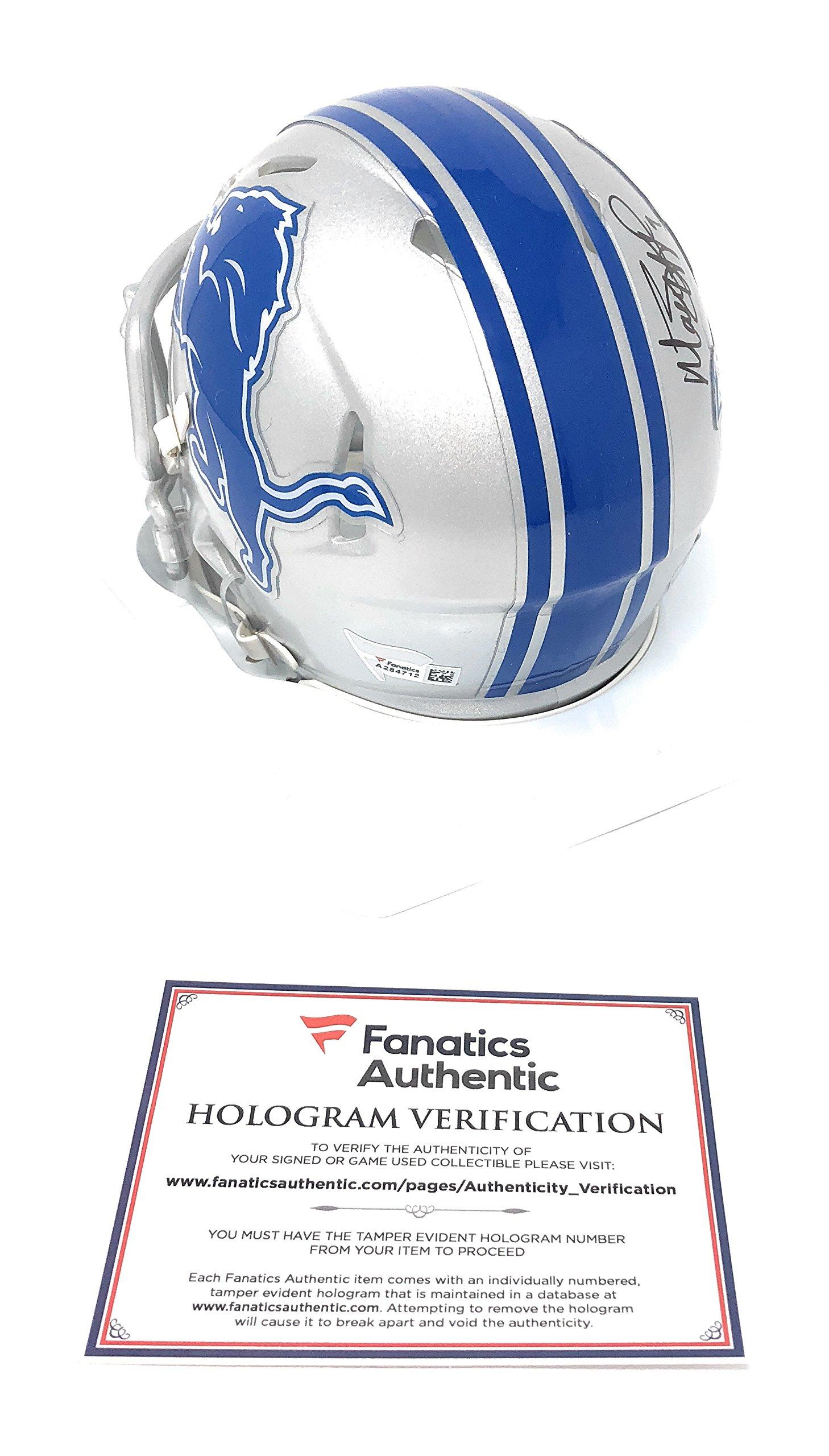 Matthew Matt Stafford Detriot Lions Signed Autograph Speed Mini Helmet Fanatics Authentic Certified