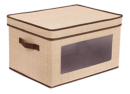 Superieur Internetu0027s Best Storage Box With Window | Durable Storage Bin Basket  Containers With Lids And Handles