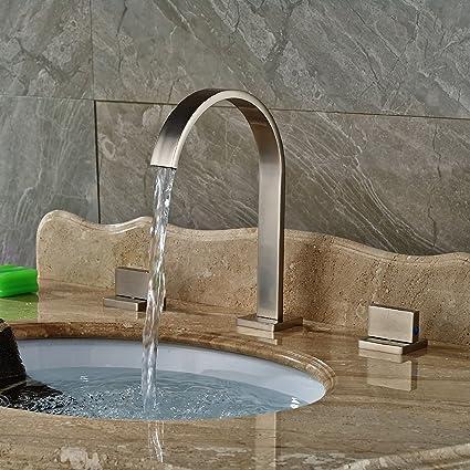InChant Moderna en níquel cepillado generalizada baño grifo del ...