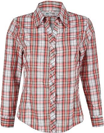 MEC WOMAN - Camisa Escocesa de algodón para Mujer Arancione L: Amazon.es: Ropa y accesorios