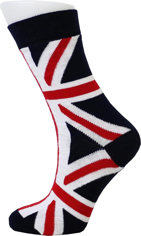 Number1Gifts Calcetines de tobillo para mujer, diseño de bandera británica de la Unión Jack: Amazon.es: Ropa y accesorios