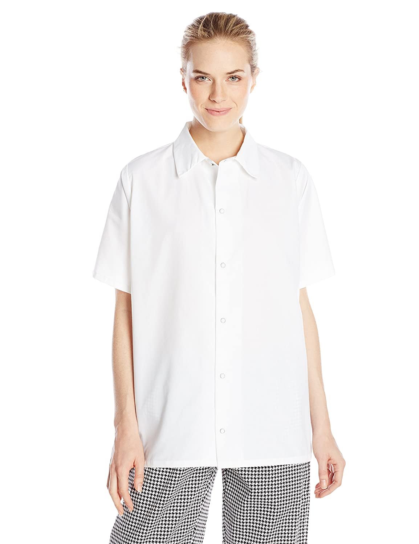 Uncommonスレッドユニセックスポケットなしレストランユーティリティシャツwith Snap Closure B00U3PNO50 XXXX-Large|ホワイト ホワイト XXXX-Large