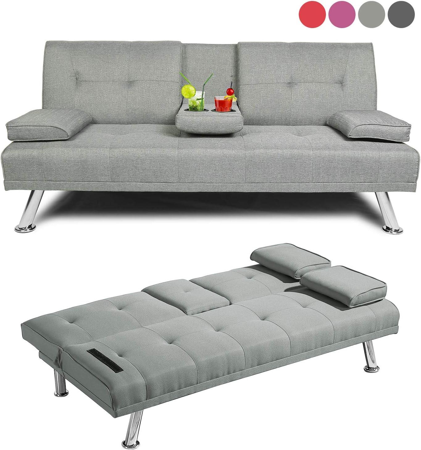 - Amazon.com: Baysitone Futon Sofa Bed Twin Size Sleeper