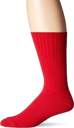 Chaps Men's Ribbed Solid Crew Socks