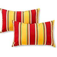 Greendale Home Fashions Rectangle Outdoor Accent Pillow (set of 2), Carnival