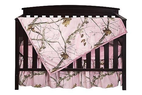 Camo Crib Bedding Set 3pc RealTree AP Baby Crib Comforter Sheet Skirt Nursery
