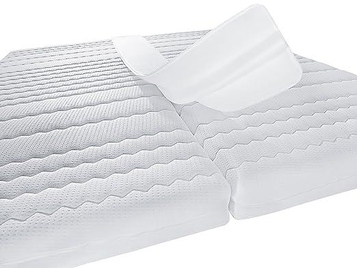 PROCAVE Puente de cama doble, Unión de colchones, Amor Puente con funda de felpa, Cuña con relleno de espuma fría: Amazon.es: Hogar