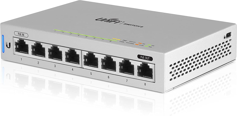 Ubiquiti Switch Unifi US-8-8 Puertos Gigabit Ethernet - Conmutador - Gestionado - PoE