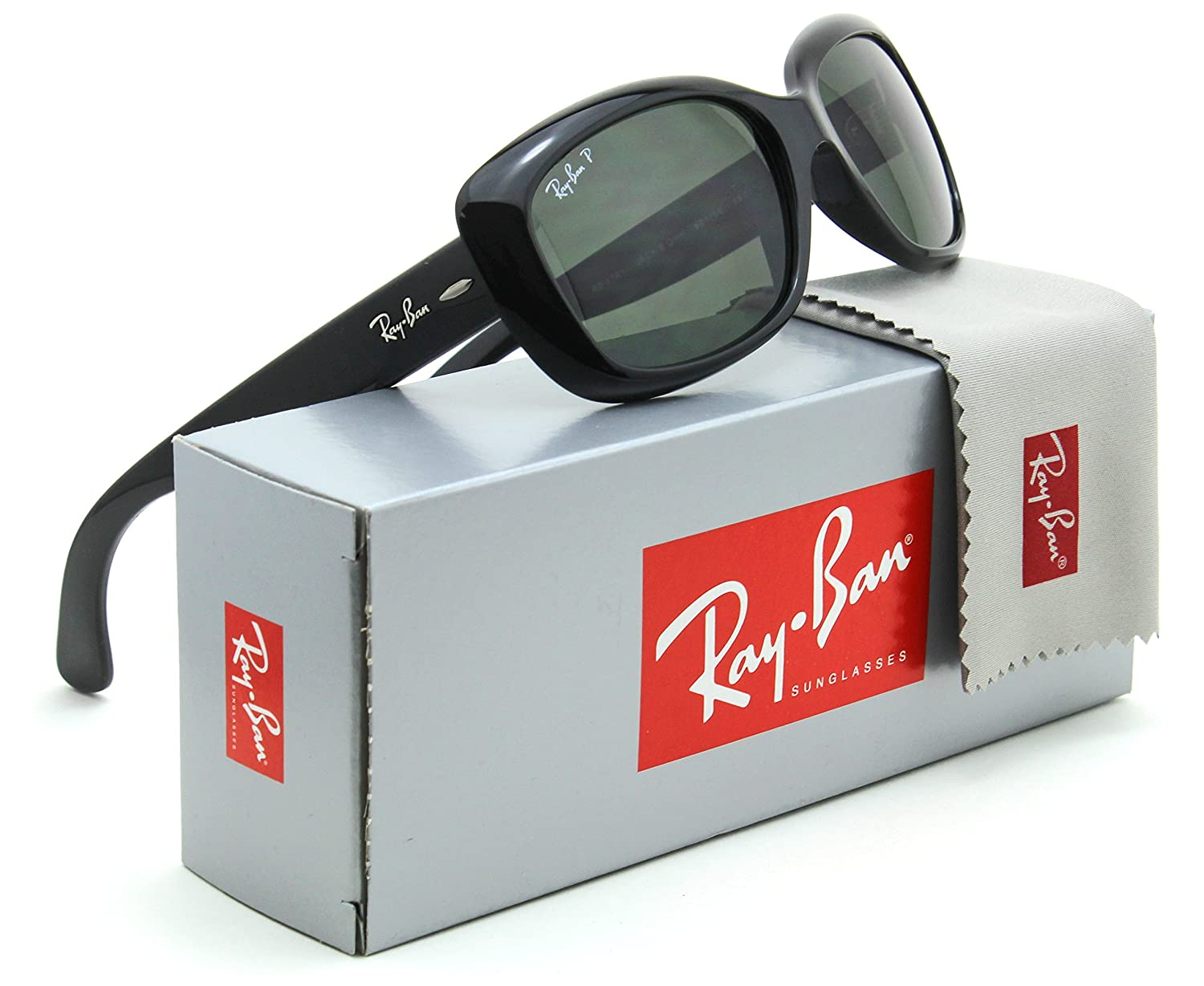 8e4da493e6b Amazon.com  Ray-Ban RB4101 Jackie Ohh Polarized Women Sunglasses 601 58 -  58mm  Clothing