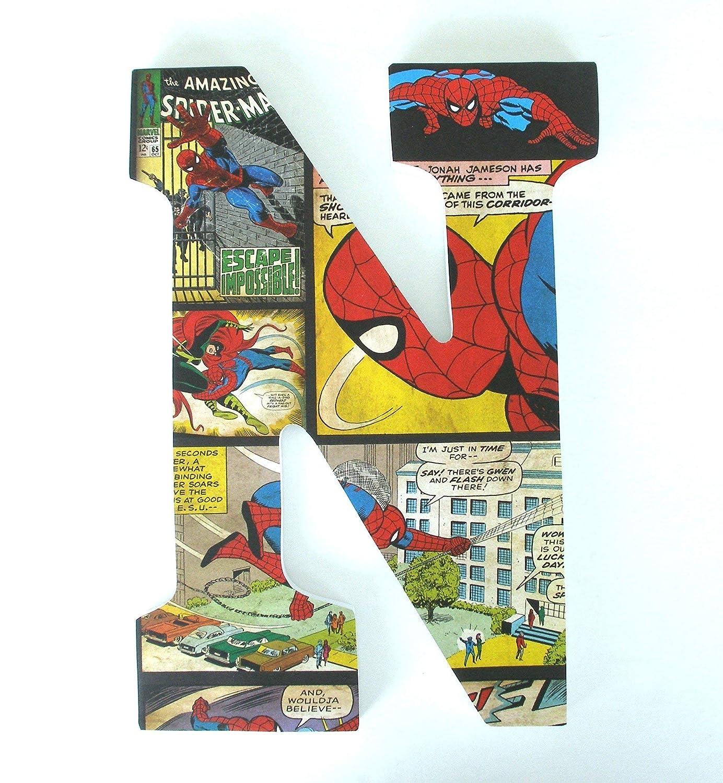 Spiderman Wood Nursery Letters, Marvel Comic Book Bedroom Decor