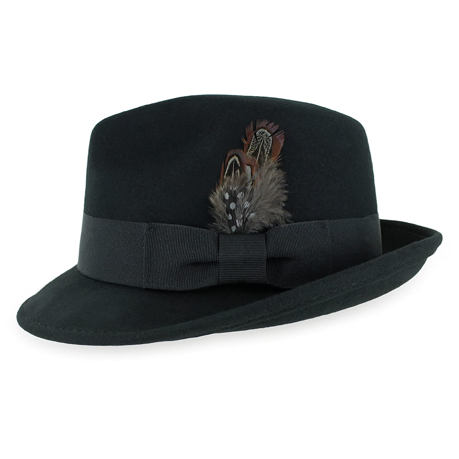 Fedoras Clothing, Shoes & Jewelry Navy Belfry Trilby Men
