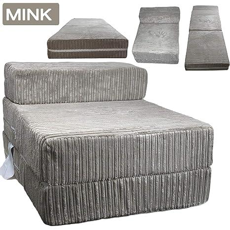 Mink Jumbo - Sofá de cama individual con cordón de espuma y ...