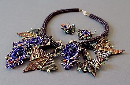 2c2f4624c8c4 Set de joyas de abalorios checos y japoneses, piedras Swarovski â ...