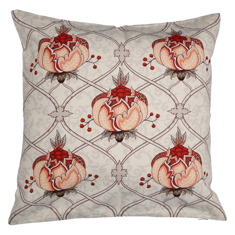 ShalinIndia デジタルプリント コットンキャンバス 花柄クッションカバー 18×18インチ 2個セット ジッパー枕カバー   B07319Q1FV