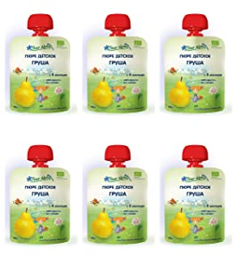 Fleur Alpine Europian Organic Baby Fruit Puree Pear from 4 months 90g pack of 6